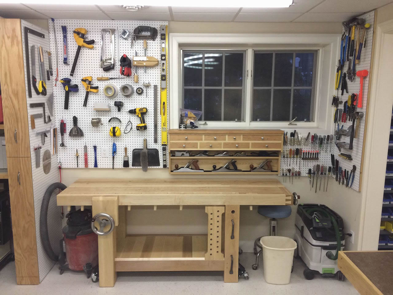 basement retreat small woodworking shop